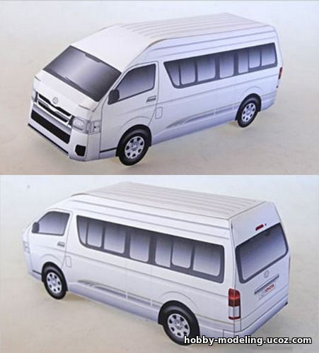 Toyota Hiace модель, Toyota Paper Model download
